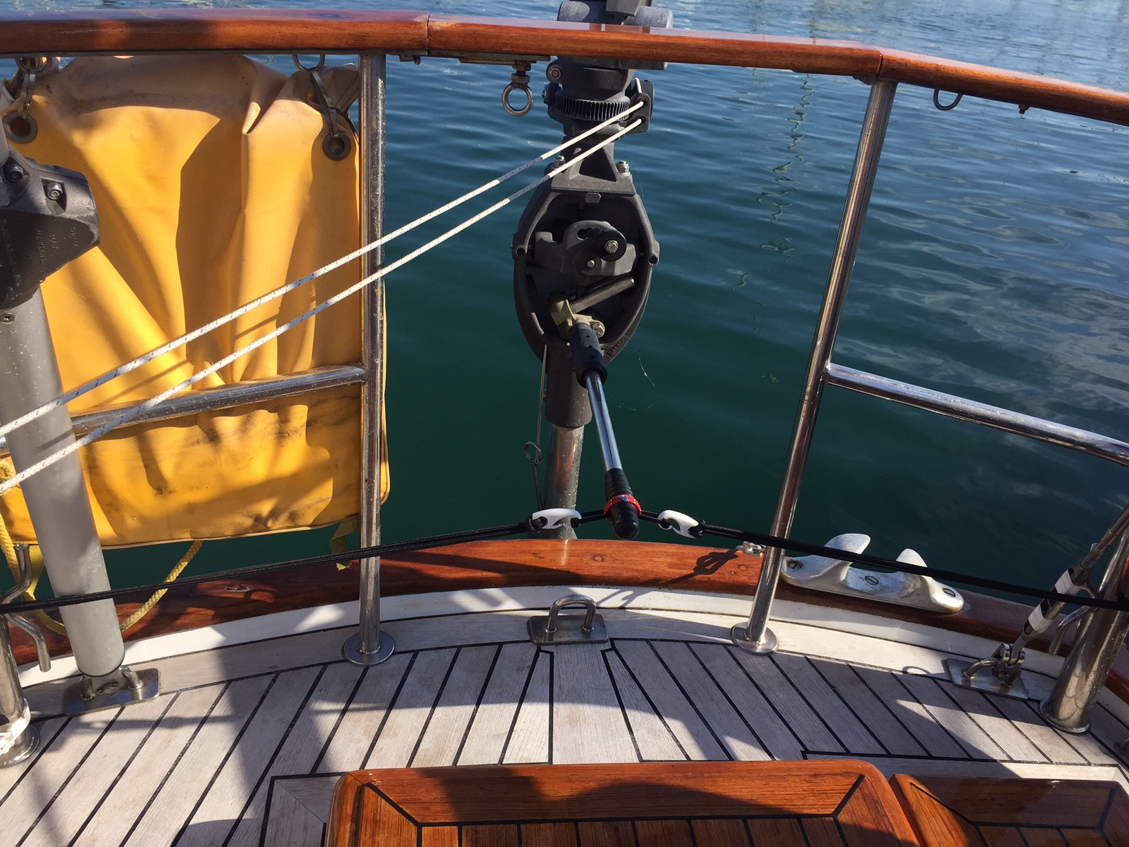 ... benefit for this boat has been the ability to maneuver in anchorages  and marina's better by coordinating the Hydrovane's rudder with the ships  rudder.